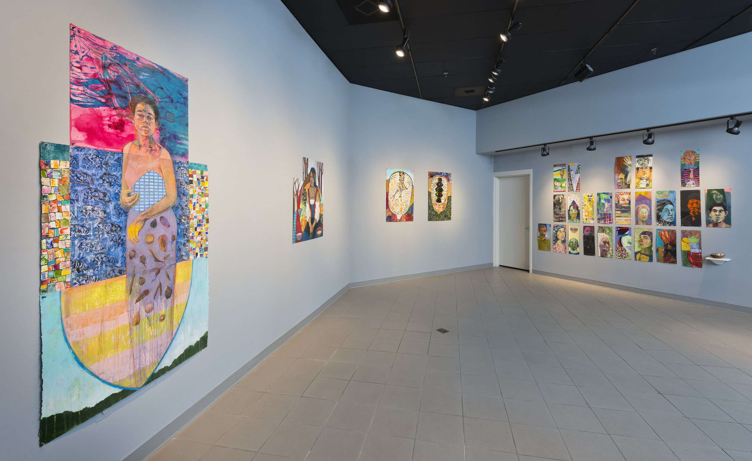 color coded, portraits, installation, Gina pierleoni, color, figures