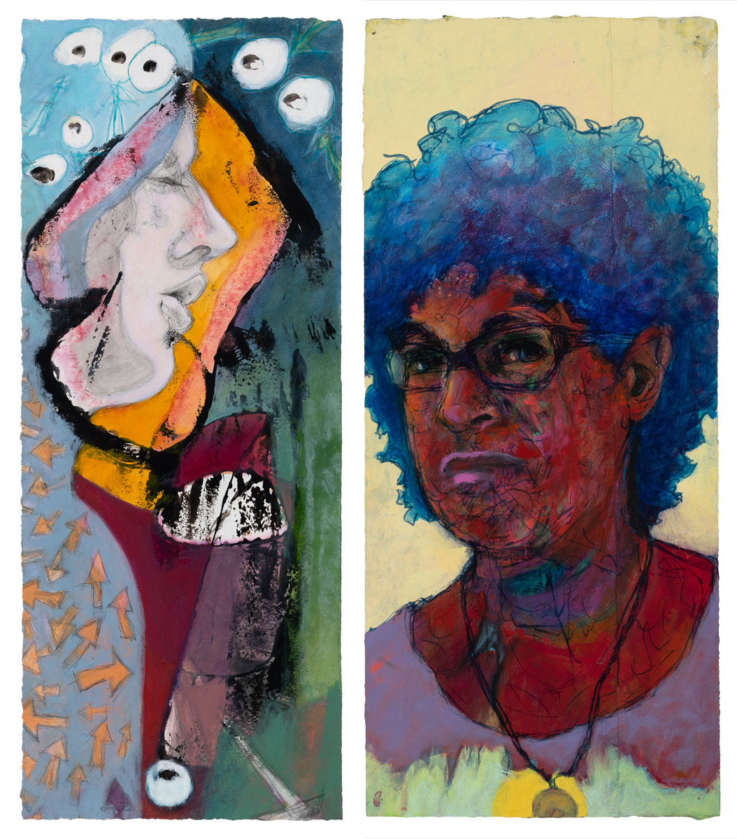 portraits spark conversations, mixed media portraits, real people, paintings, conversations create portraits, self-portrait, to-do lists, every year
