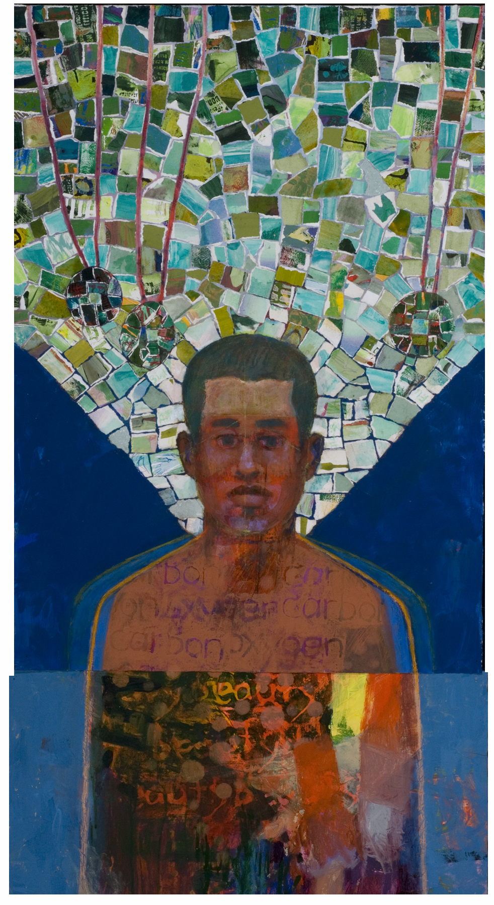 human icons, mixed media, portaits, paintings, luck, wings, collage, stamps, to-do lists
