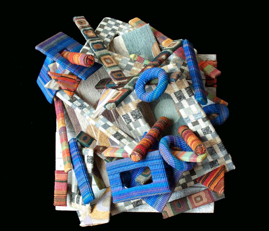textile, fabric art, mixed media, fiber art, visual art, abstract