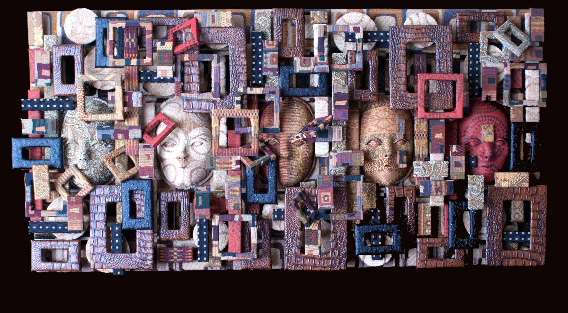 wall art sculpture, mixed media & fabric art, textile art, visual art