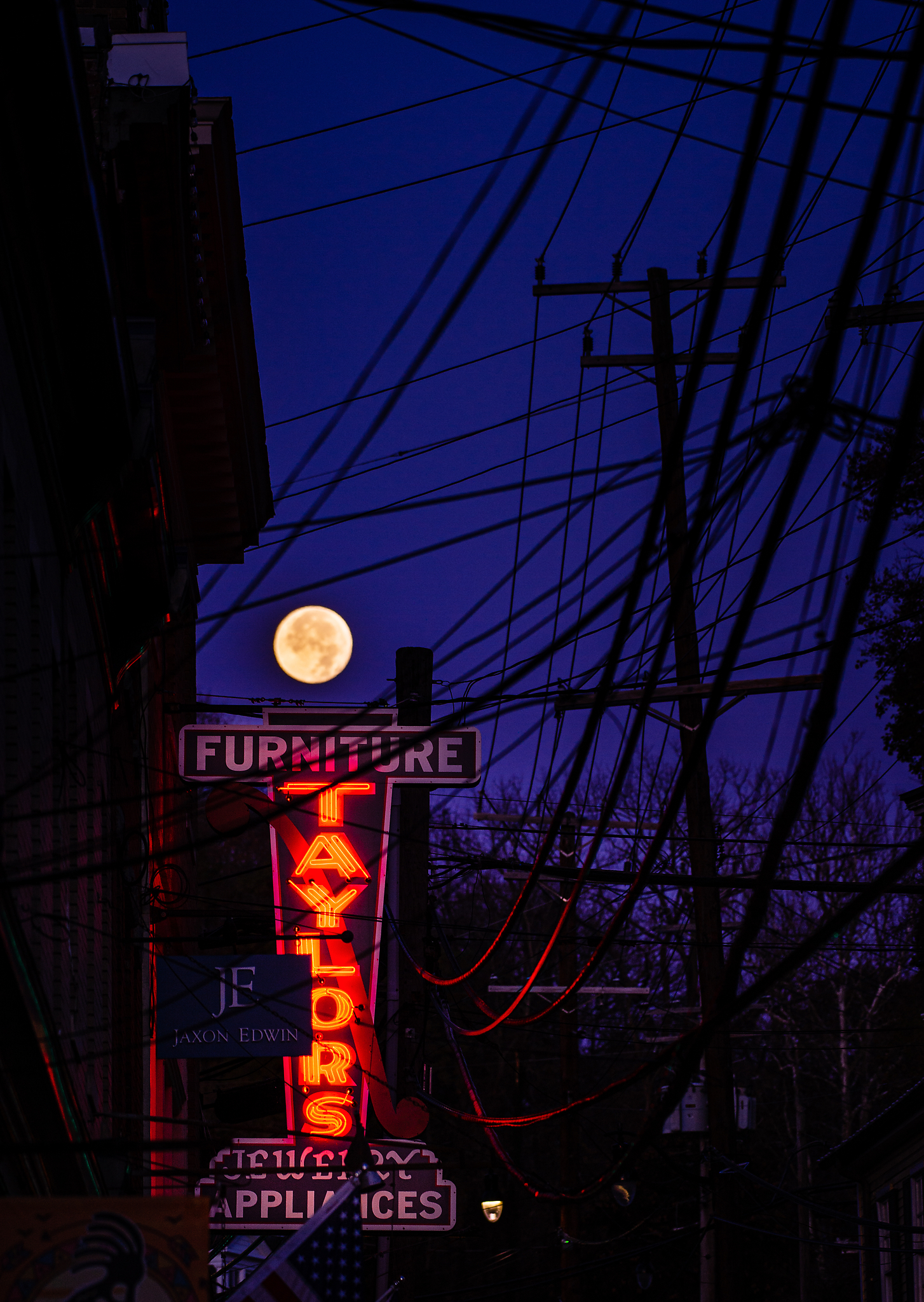 Full moon over Taylor's