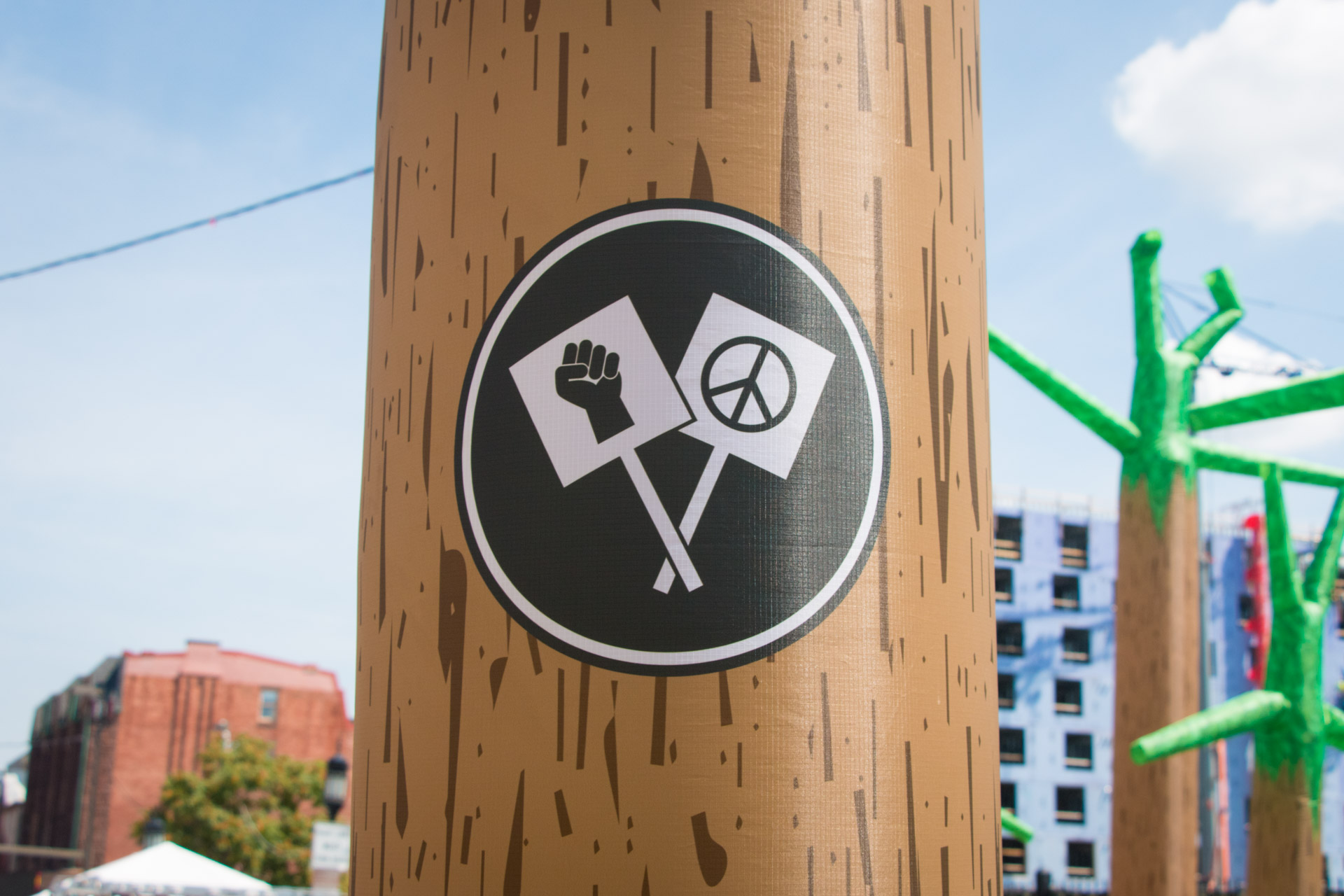 Dancing Forest - Protest marker