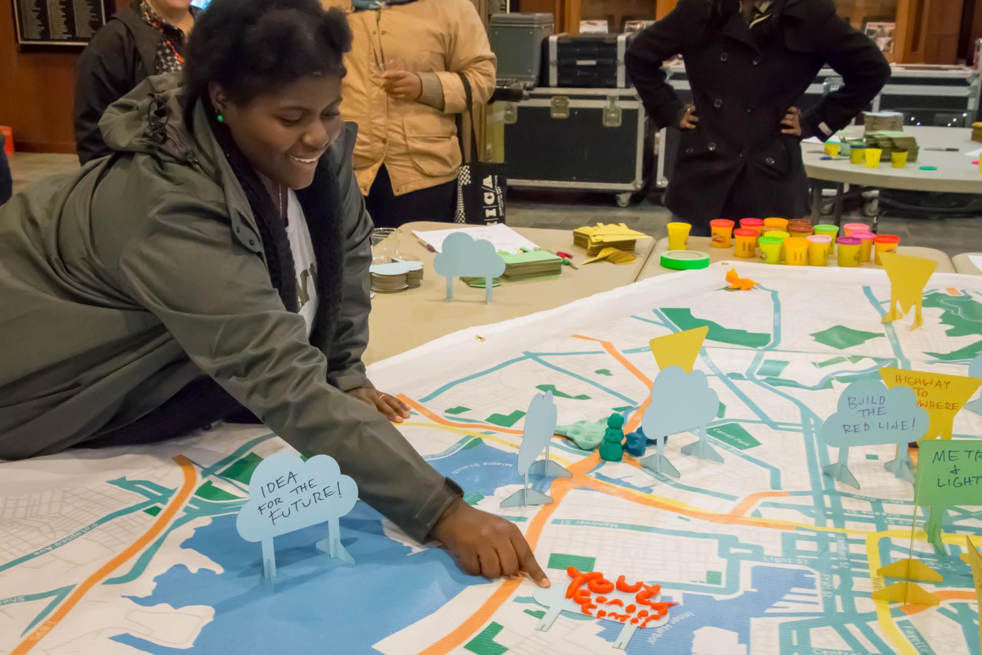FutureSite Baltimore - youth adding sign