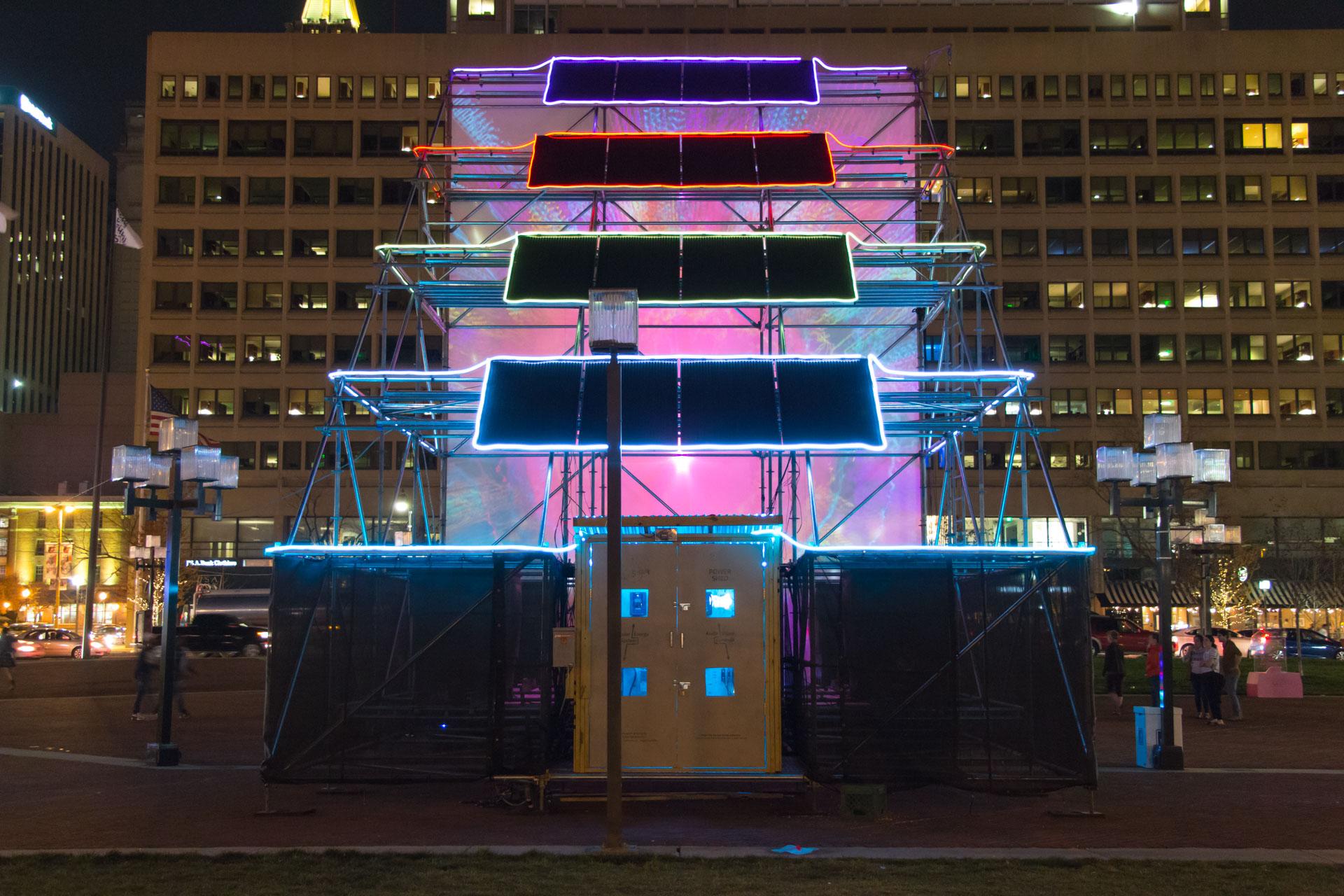 Sun Stomp - LED neon solar panels