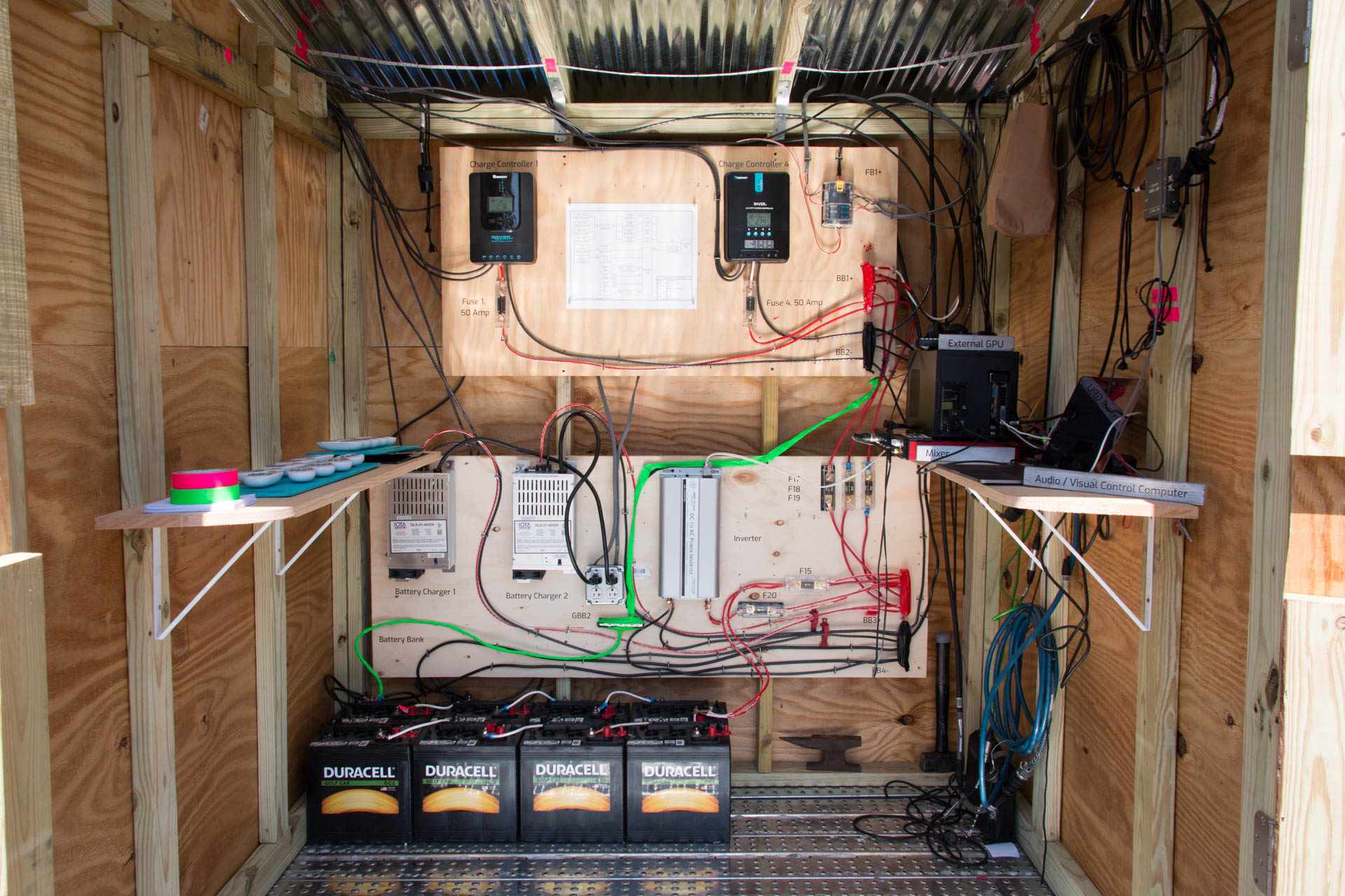Sun Stomp - Power Shed interior