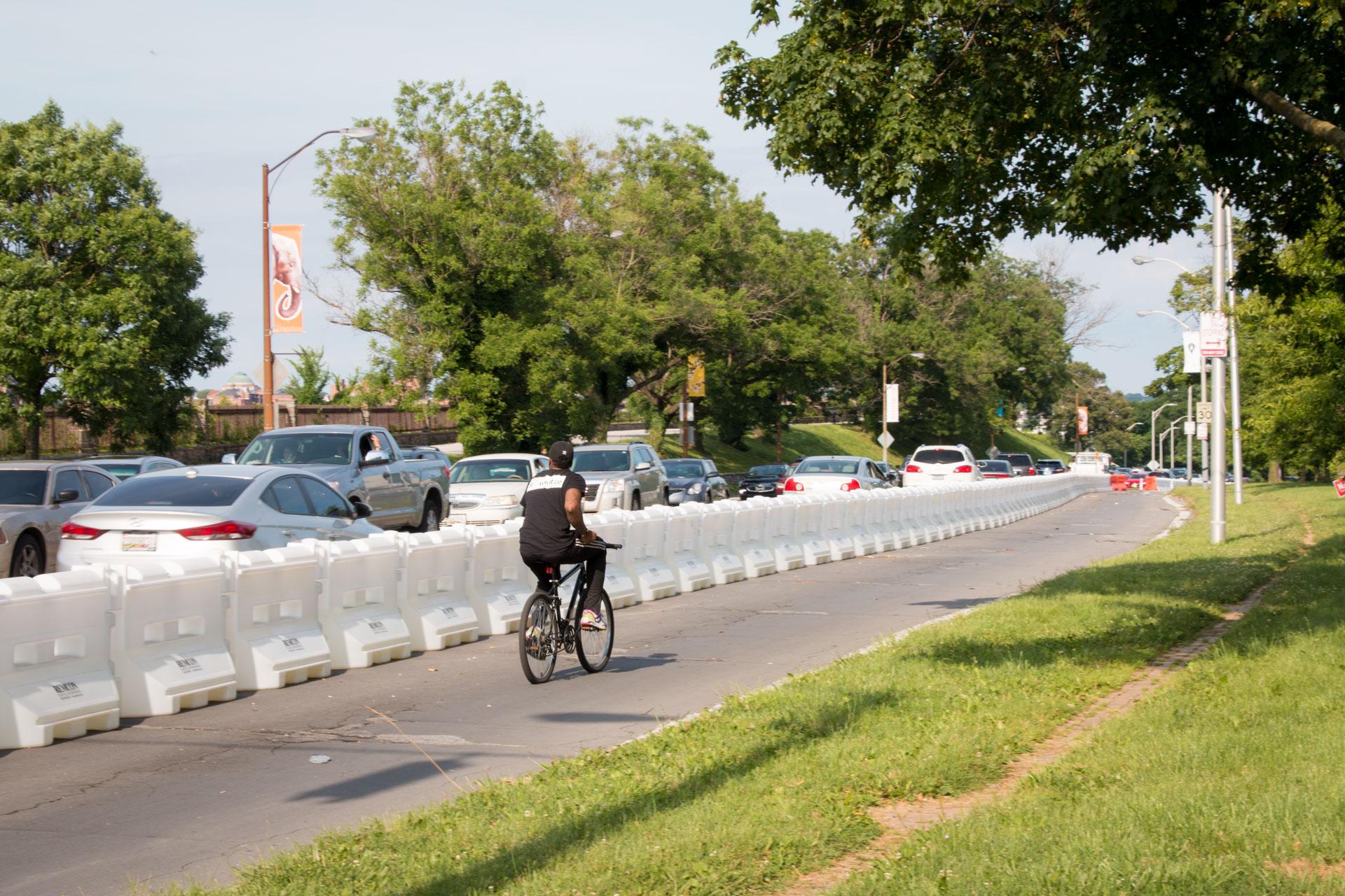 Big Jump Baltimore Wayfinding - bicyclist
