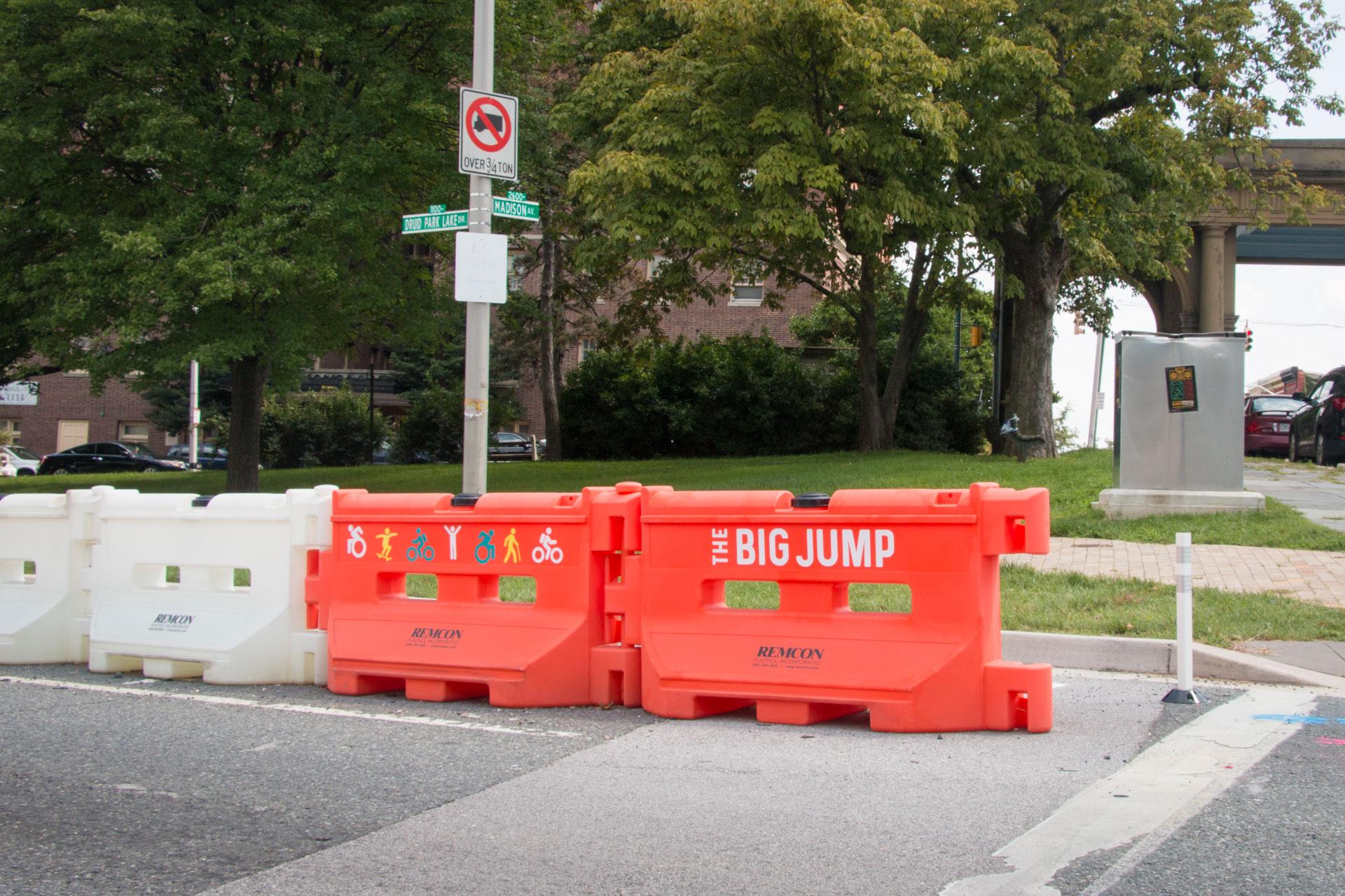 Big Jump Baltimore Wayfinding - cut vinyl branding