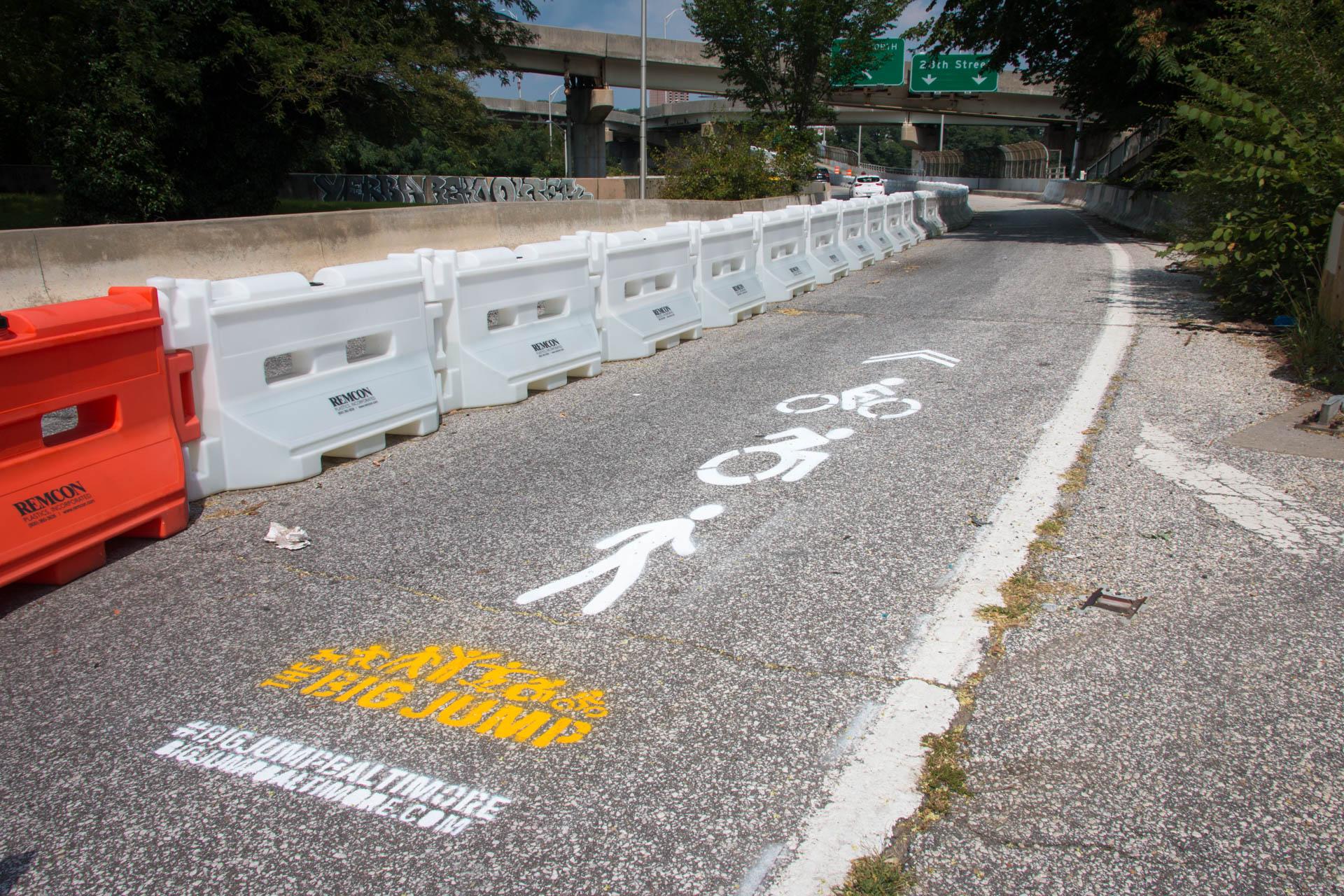 Big Jump Baltimore Wayfinding - shared use stencils