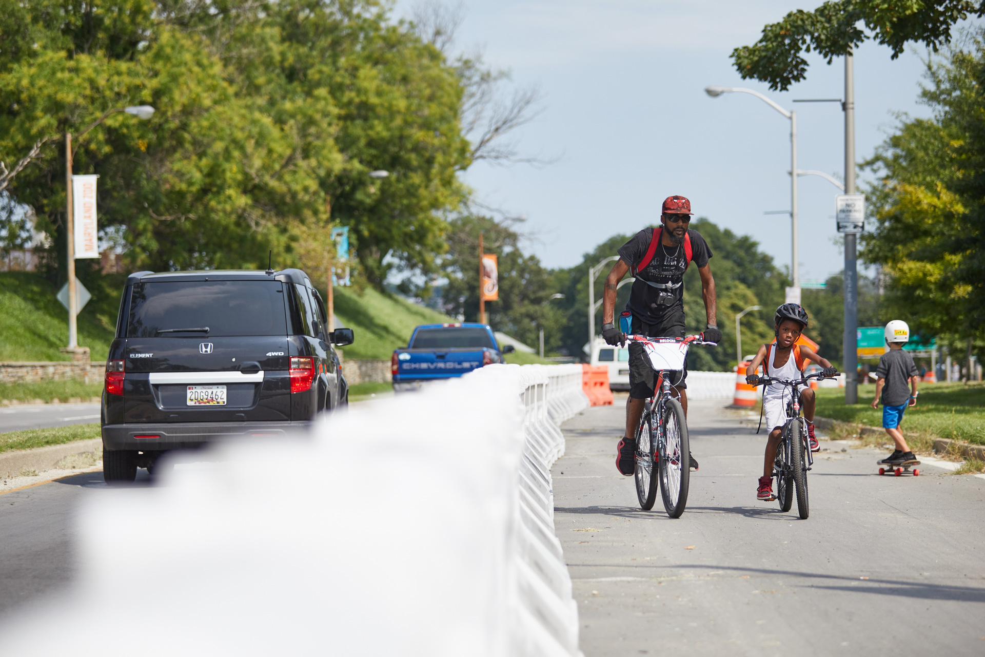 Big Jump Baltimore father and son bicyclists, photo by Brian O'Doherty