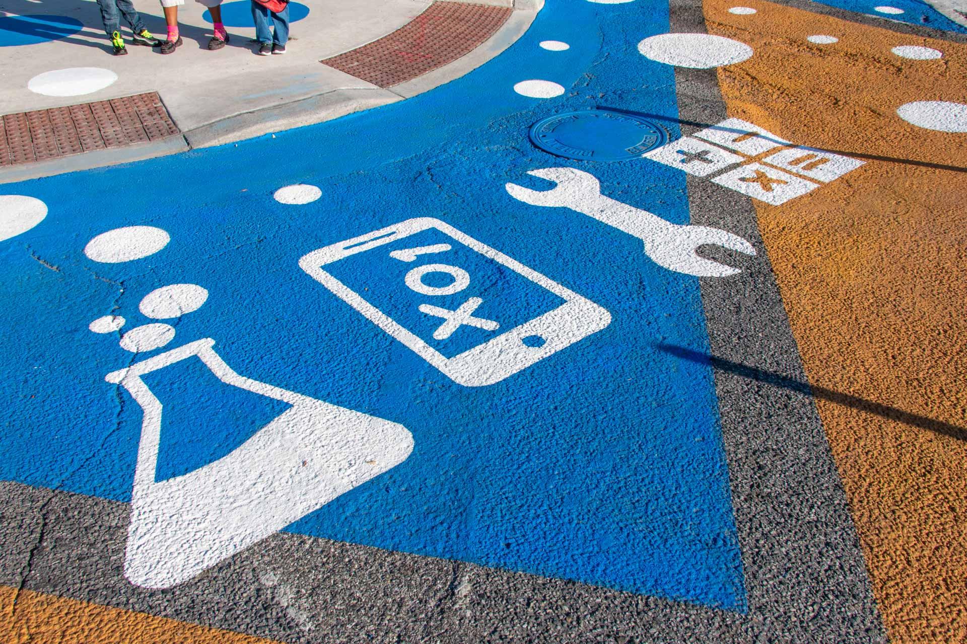 Barclay STEM Crosswalks - symbols detail