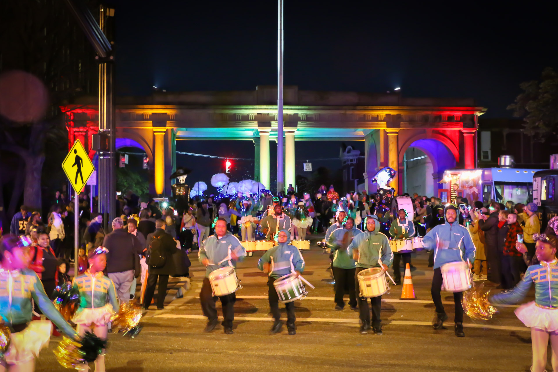 Arches & Access - Twilighters Marching Band performing on Druid Park Lake Drive