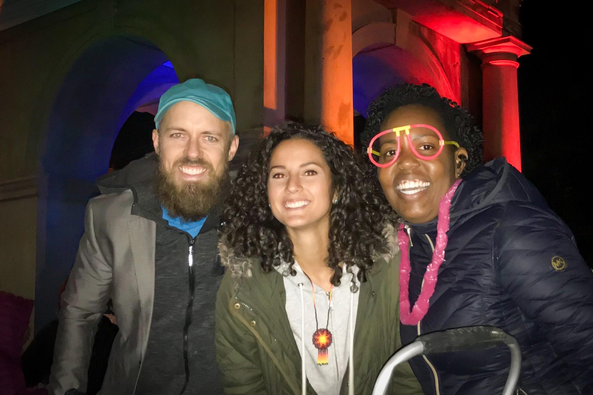 Arches & Access organizers Graham Coreil-Allen, Jessy DeSantis, & Courtney Bettle