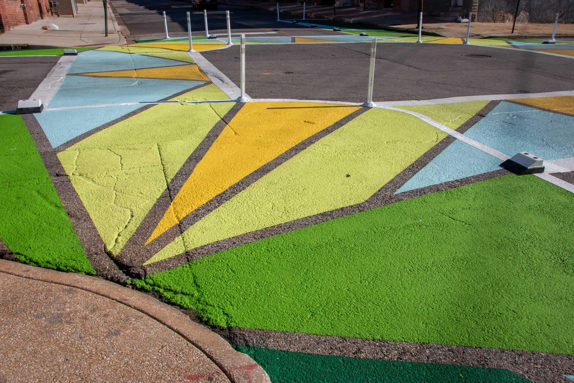 Collington Square Oak Wisdom Crosswalks bump out detail