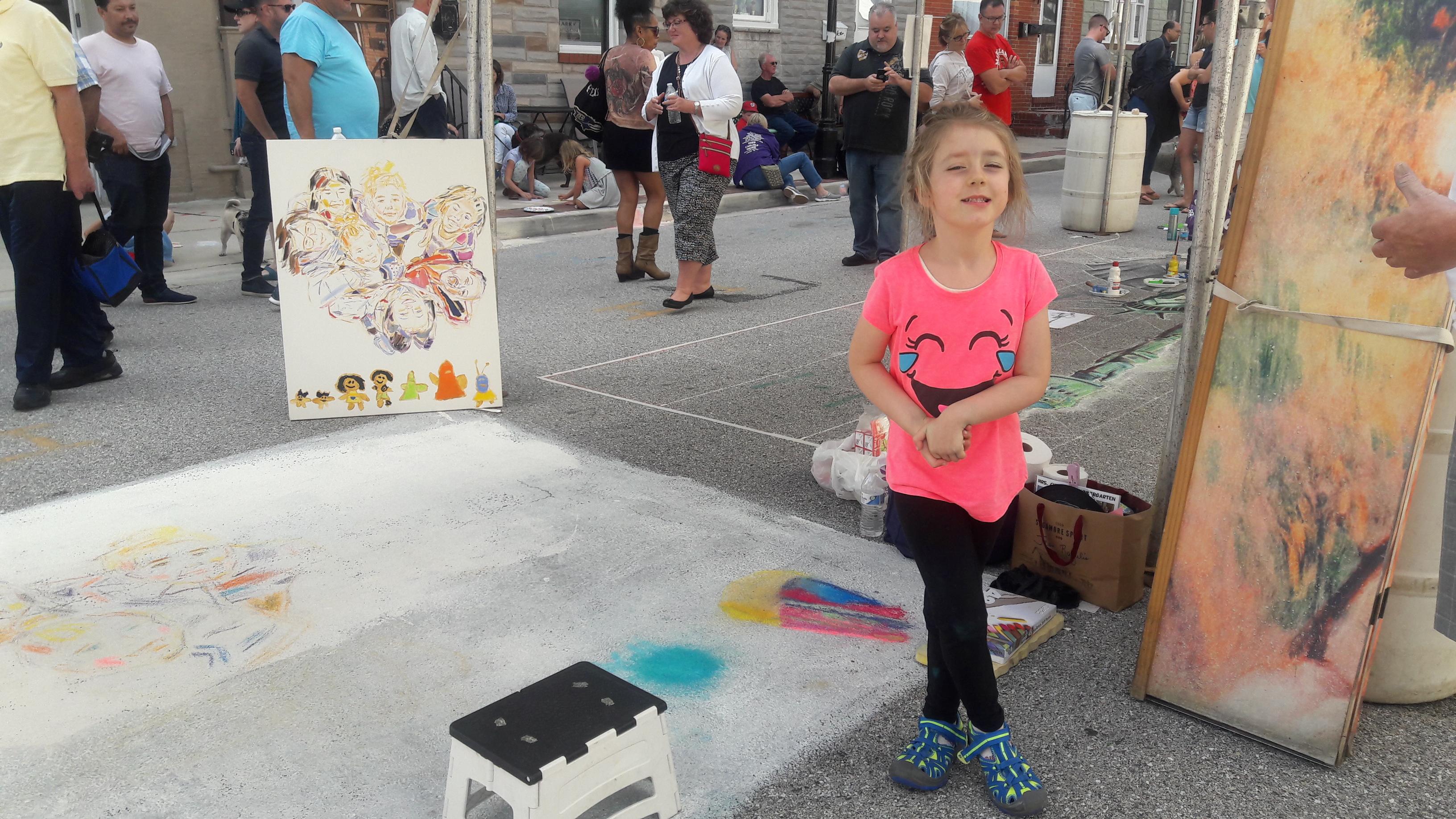 Chalk painting.