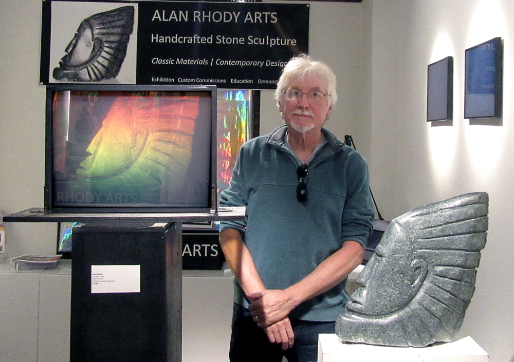 Sculpture and hologram by Alan Rhody