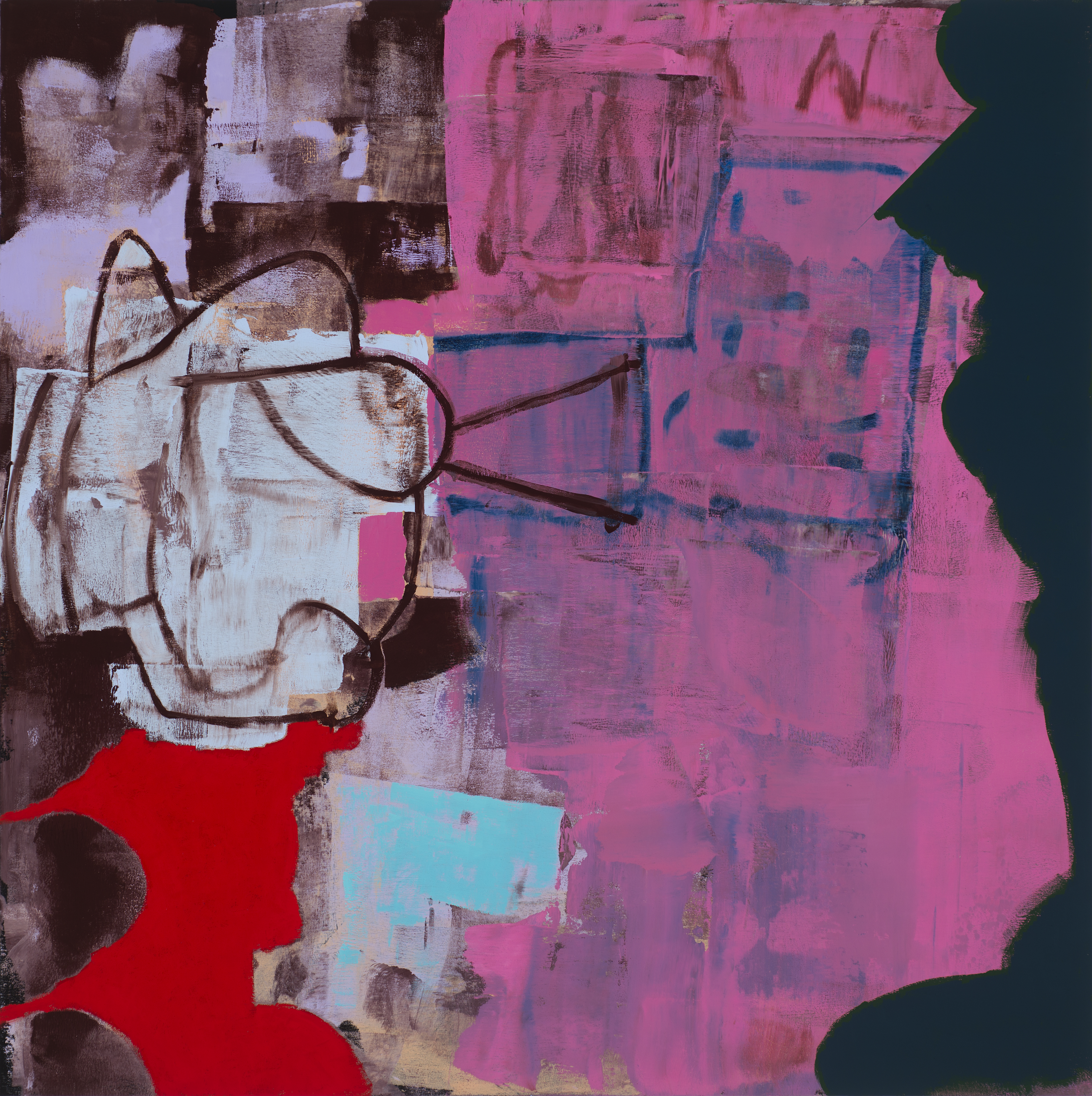 "Untitled 10-20-17 24""x24"" Oil On Panel"