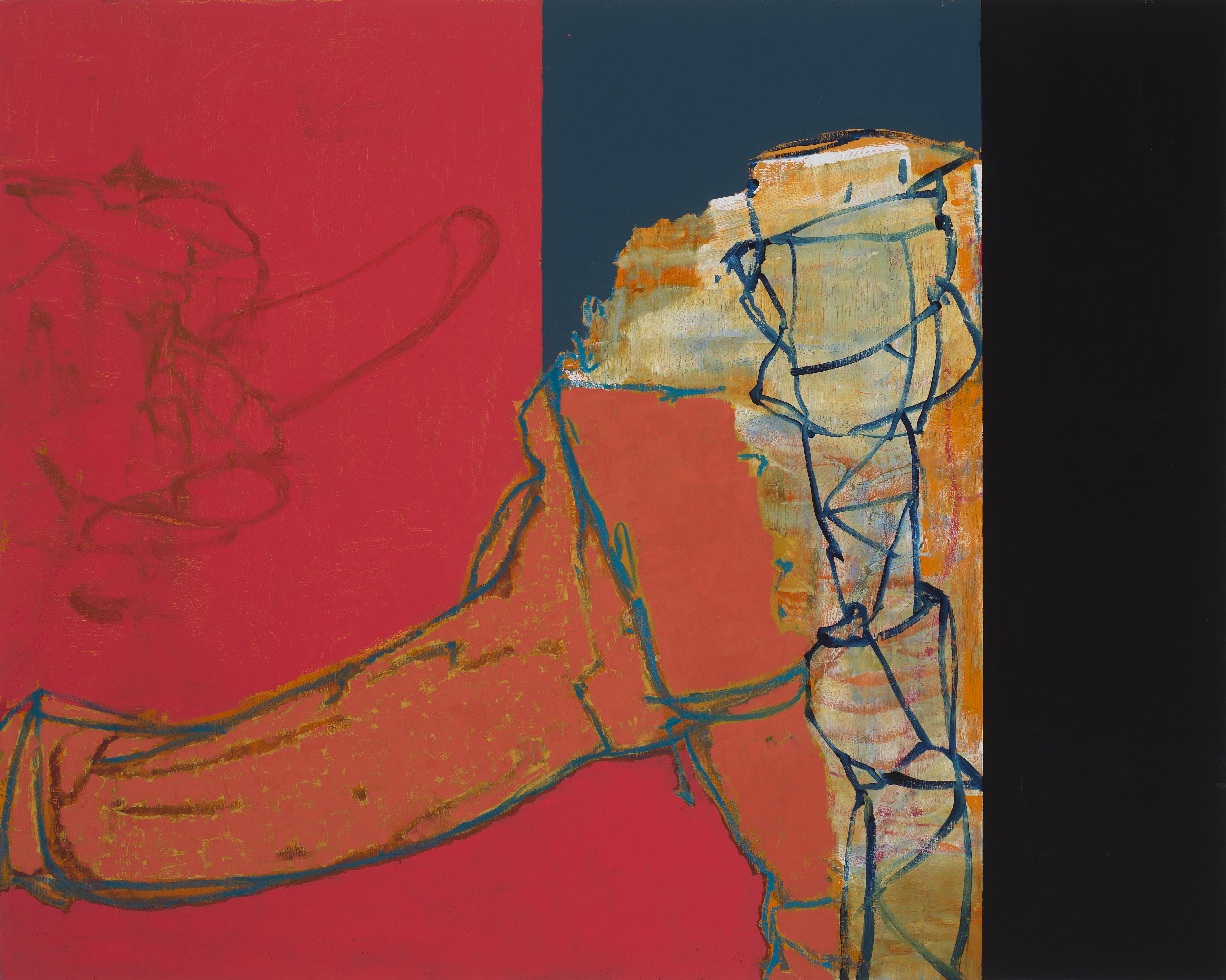 "Untitled 9-1-17 24""x30"" Oil On Panel"