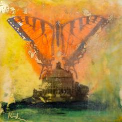Encaustic, monarch, butterfly, conservatory, baltimore, rawlingsconservatory