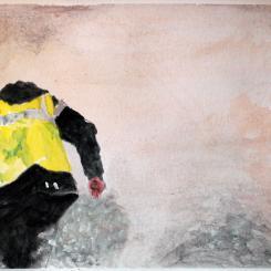 tear gas, escape in Paris 2018, gilets jaunts