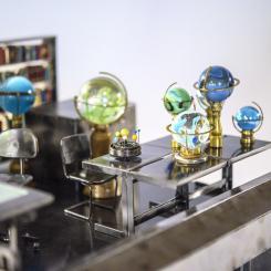 Wings of Desire, Bruno Ganz, Peter Falk, Berlin, angels, miniatures, mini art, metal sculpture, glass marbles, vignette, library art, literary art, cinematic art