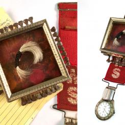 Reliquary for My Father (objects found on his desk and his hair)