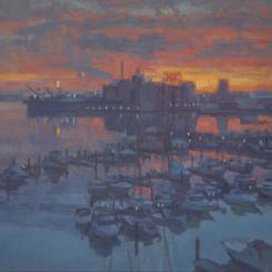 Baltimore Inner Harbor Winter Sunrise