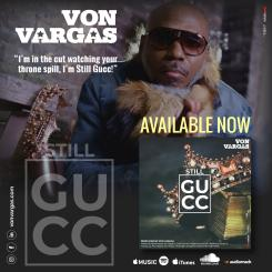 "Von Vargas' Latest Single ""Still Gucc"" Album Cover"