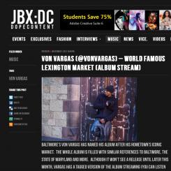Jukebox DC Snapshot w/ Von Vargas' World Famous Lexington Market mention