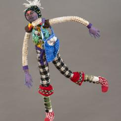 sewn figures, recycling, repurposing, sewing, drawing with thread, layers, stuff