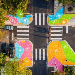 Reverberations Crosswalks - aerial