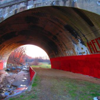 red mystery tunnel