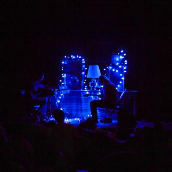 Peals perform at Artisphere during the Fermata international sound art exhibition in July 2014.