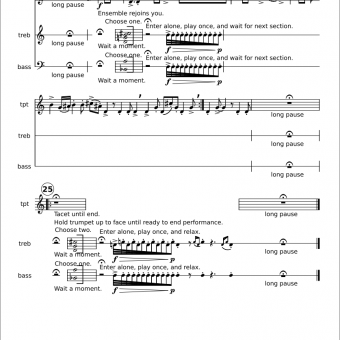 page from score