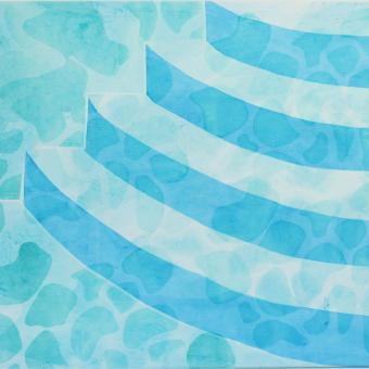 screen print, printmaking, canvas, pool