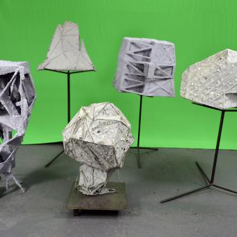 Shatterday 2020, by Stephen Hendee, sculpture grouping