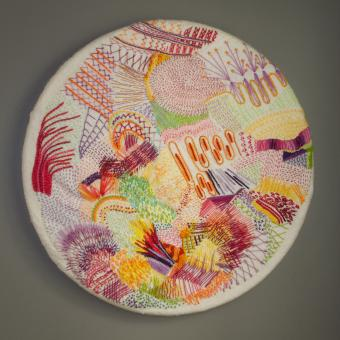 embroidery, hand work, larger embroidery, Sarah magida, art, fibers, fibers art
