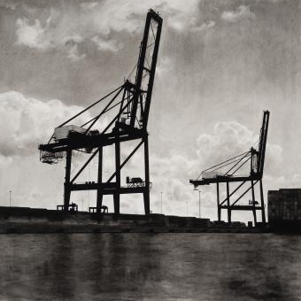 cargo cranes Baltimore Harbor