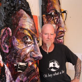 Brett Stuart Wilson in Studio