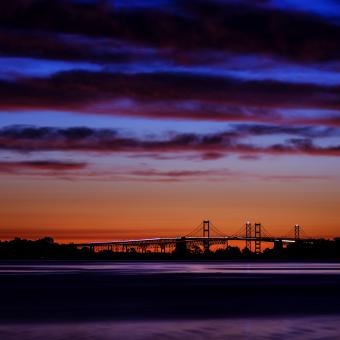 Dawn over the Chesapeake Bay Bridge