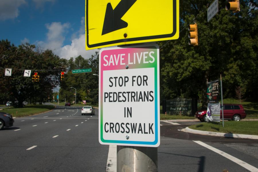 Footprints Crosswalk Save Lives
