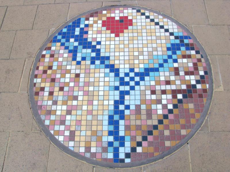 Mosaic medallion by Farah Ahmed