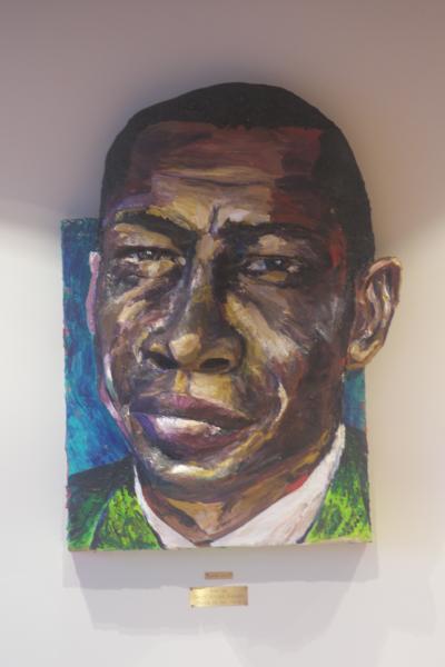 Built-Out Portrait of Elmore James by Artist Brett Stuart Wilson