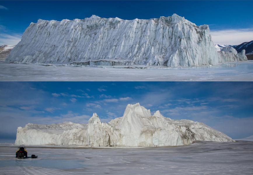 Iceberg Stuck in the Sea Ice, Cape Bernacchi, Antarctica