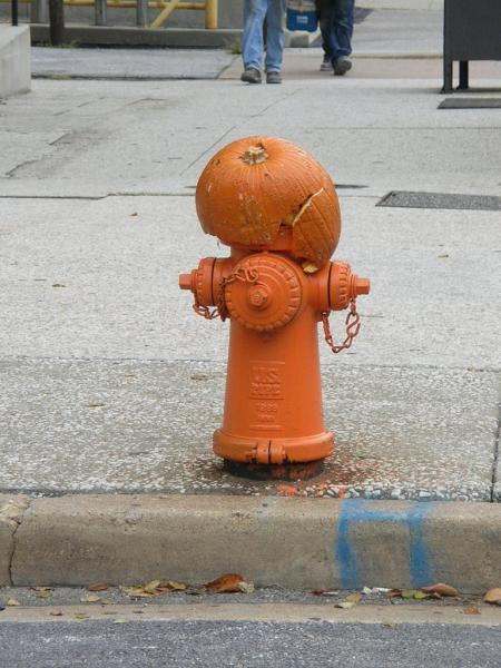 pumpkin head hydrant