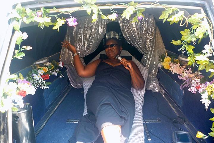 installation, performance, karaoke, audio, hearse