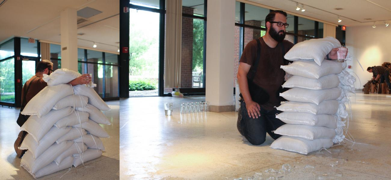 8-hour Performance with Sandbags, Glasses, Pitcher, and Water | Allegheny College (Meadville, PA) | 2013