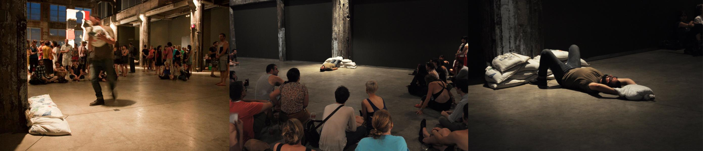 30-minute Performance with Sandbags | Fonderie Darling (Montreal, QC) | 2012