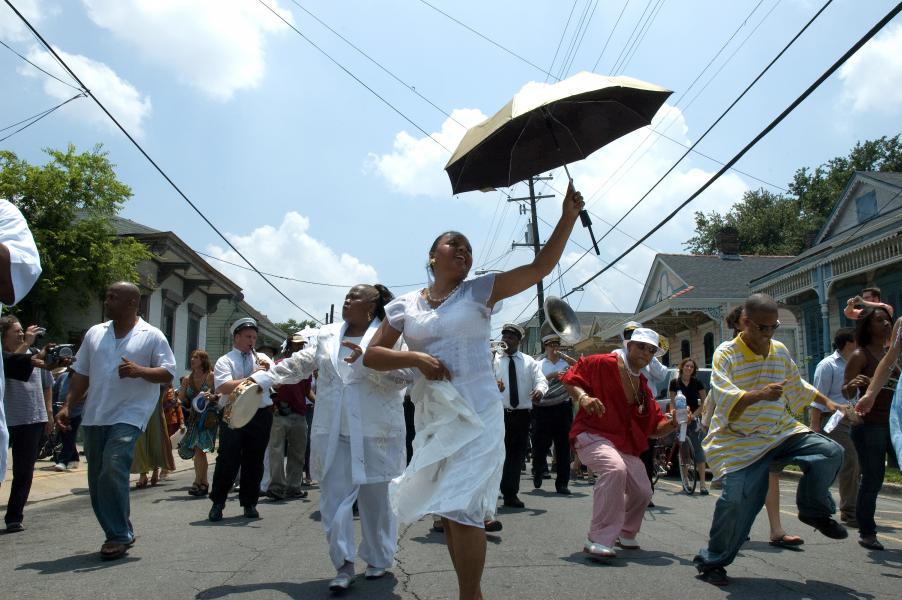 Hurricane katrina, New Orleans, second line
