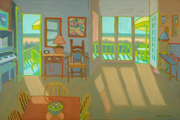 "Beach House Interior, oil, 24""x36"", 2010"